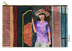 Carry-all Pouch featuring the painting At Puri Kelapa by Melly Terpening