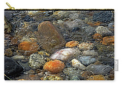 Carry-all Pouch featuring the mixed media At Rest Within The Streaming Tide by Lynda Lehmann