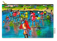 At The Beach Carry-all Pouch by Barbara O'Toole
