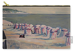 Carry-all Pouch featuring the painting At The Beach by Nop Briex