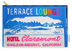 At The Claremont Hotel Carry-all Pouch by Beth Saffer