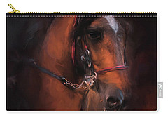 At The Horse Show 1 Carry-all Pouch by Jai Johnson