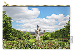 Carry-all Pouch featuring the photograph At The Palais Royal Gardens by Melanie Alexandra Price