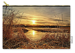 At The Rivers Edge Carry-all Pouch by Bonfire Photography