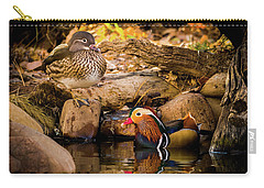 At The Waters Edge - Mandarin Ducks Carry-all Pouch