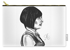 At Your Service - Bartender Art - Charcoal Drawing Illustration By Ai P. Nilson  Carry-all Pouch