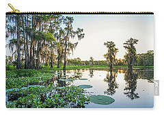 Carry-all Pouch featuring the photograph Atchafalaya Basin Sunrise by Andy Crawford