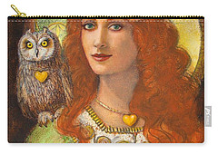 Athena And Her Owl- Wise Ones Carry-all Pouch