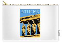Athens Erechtheum Blue Carry-all Pouch