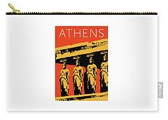 Athens Erechtheum Orange Carry-all Pouch