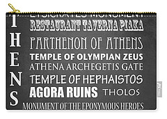 Athens Famous Landmarks Carry-all Pouch