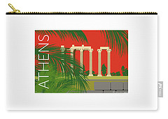 Athens Temple Of Olympian Zeus - Orange Carry-all Pouch
