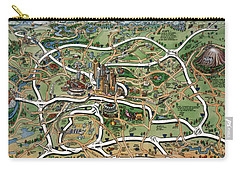 Atlanta Cartoon Map Carry-all Pouch
