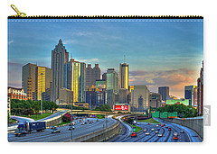 Carry-all Pouch featuring the photograph Atlanta Coca-cola Sunset Reflections Art by Reid Callaway