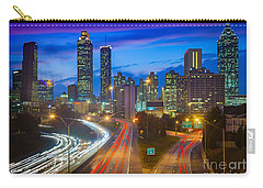 Atlanta Downtown By Night Carry-all Pouch
