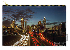 Carry-all Pouch featuring the photograph Atlanta Downtown Infusion Atlanta Sunset Cityscapes Art by Reid Callaway