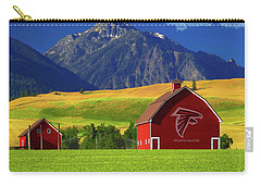 Carry-all Pouch featuring the photograph Atlanta Falcons Barn by Movie Poster Prints