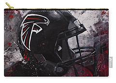 Atlanta Falcons Football Wall Art Falcons Fan Gift Carry-all Pouch by Gray Artus