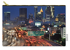 Atlanta Heavy Traffic Carry-all Pouch by Frozen in Time Fine Art Photography