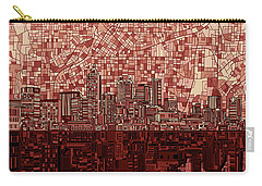 Atlanta Skyline Abstract Deep Red Carry-all Pouch