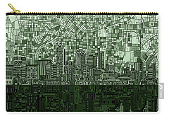 Atlanta Skyline Abstract Hunter Green Carry-all Pouch