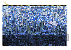 Atlanta Skyline Abstract Navy Blue Carry-all Pouch
