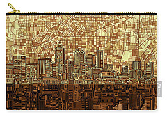 Atlanta Skyline Abstract Orange Carry-all Pouch