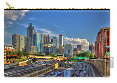 Carry-all Pouch featuring the photograph Atlanta The Capital Of The South Cityscapes Sunset Reflections Art by Reid Callaway