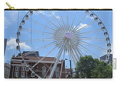 Carry-all Pouch featuring the photograph Atlanta Wheel by Aaron Martens