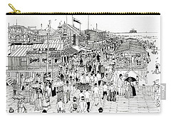 Atlantic City Boardwalk 1889 Carry-all Pouch by Ira Shander