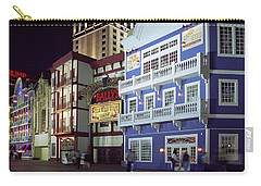 Atlantic City Boardwalk At Night Carry-all Pouch by Sally Weigand