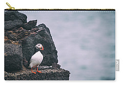 Atlantic Puffin Carry-all Pouch by Happy Home Artistry