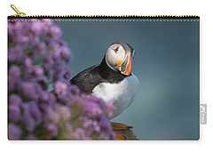 Carry-all Pouch featuring the photograph Atlantic Puffin - Scottish Highlands by Karen Van Der Zijden