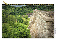Carry-all Pouch featuring the photograph Atop The Croton Dam by Kristia Adams