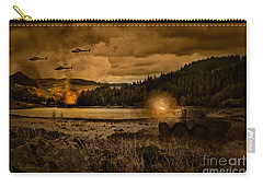 Attack At Nightfall Carry-all Pouch by Amanda Elwell