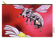 Attack Of The Silver Bee Carry-all Pouch