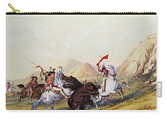 Attacking The Grizzly Bear 1844 Carry-all Pouch