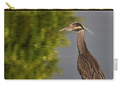Carry-all Pouch featuring the photograph Attentive Heron by Jean Noren