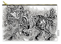 Attitude In Motion Carry-all Pouch by Yvonne Blasy