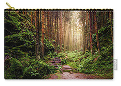 Carry-all Pouch featuring the photograph Attractive Pathway In Saxon Switzerland by Dmytro Korol