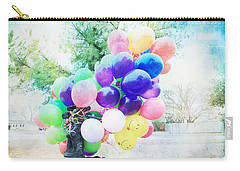 Smiley Face Balloons Carry-all Pouch