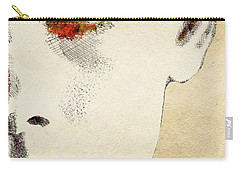 Audrey Half Face Portrait Carry-all Pouch