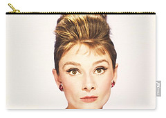 Carry-all Pouch featuring the photograph Audrey Hepburn Breakfast At Tiffanys  by R Muirhead Art