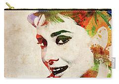 Audrey Hepburn Colorful Portrait Carry-all Pouch