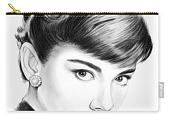 Audrey Hepburn Carry-all Pouch by Greg Joens