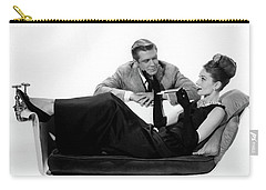 Carry-all Pouch featuring the photograph Audrey Hepburn Holly Golightly Breakfast At Tiffanys  by R Muirhead Art