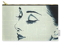 Audrey Hepburn Carry-all Pouch by Monikas Art