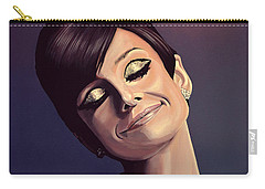 Audrey Hepburn Painting Carry-all Pouch by Paul Meijering