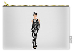 Audrey Hepburn Typography Poster Carry-all Pouch