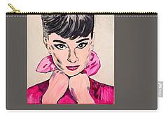 Audrey Hepburn Carry-all Pouch by Valerie Ornstein